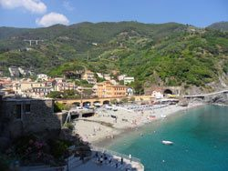 Monterosso: the old town beach, Cinque Terre, Liguria