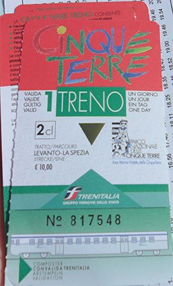 The Cinque Terre ticket
