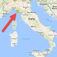 Italy Map Cinque Terre.Cinque Terre Italy