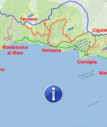 Riomaggiore Italy Map.Cinque Terre Maps