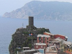 Belforte Tower and A. Doria Castle, Vernazza, Cinque Terre