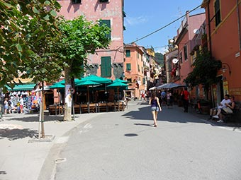 A street in Monterosso (2 years after the flood), Italy