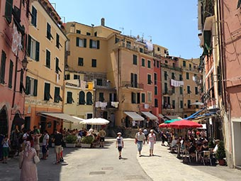Main Street in Vernazza (2 years after the flood), Italy