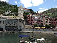 Main Square and the beach in Vernazza (2 years after the flood), Italy