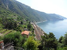 Corniglia - Train station, view from Long Stair