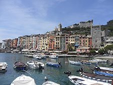 Portovenere - View of the town and castle Doria