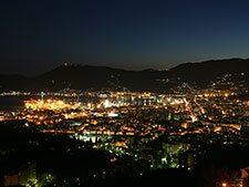 La Spezia - City at night, the view from the hill
